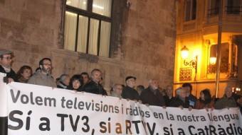 Una protesta pel tancament de RTVV. Foto:ACN