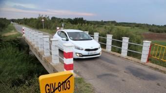 La carretera dels tres ponts, entre Castelló i Palau-saverdera. Foto:MANEL LLADÓ