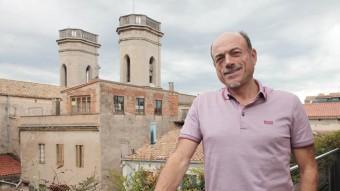El doctor Vilaplana, a la seu que el COMG téa l'edifici Fòrum de Girona joan sabater