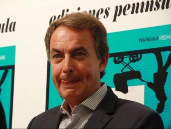 L'expresident del govern espanyol, José Luis Rodríguez Zapatero, aquest dimarts a Madrid Foto:ACN