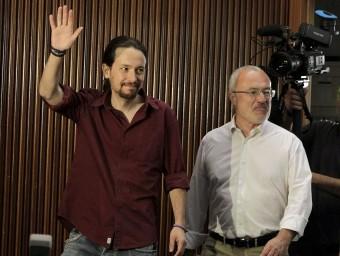 Antonio Montiel amb el líder de Podem, Pablo Iglesias. Foto:AGÈNCIES