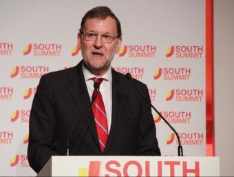 El president del govern espanyol, Mariano Rajoy, aquest dimecres al South Summit, a Madrid Foto:ACN