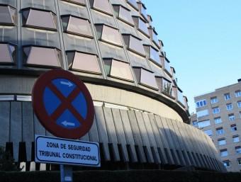 Vista de la seu del Tribunal Constitucional, a Madrid Foto:ACN