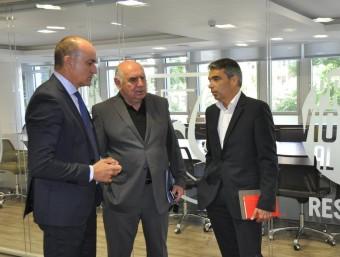 Subies, Calzón i Soler, en la reunió d'ahir Foto:FCF