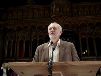 Jeremy Corbyn, parla en una acte dilluns passat a la Catedral de Manchester Foto:REUTERS