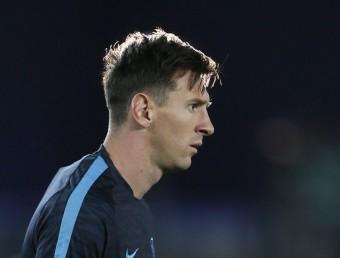 Leo Messi, en un entrenament d'aquesta temporada Foto:EFE