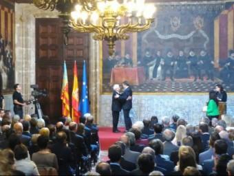 El cantant Raimon ha rebut l'alta distinció de la Generalitat Valenciana Foto:@GVA_INFO