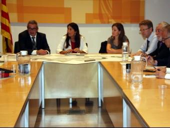 Reunió de la comissió de seguiment ahir Foto:ACN