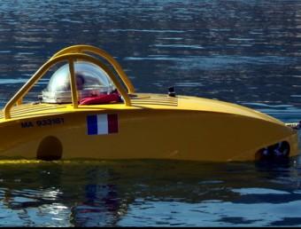 El submarí científic Ictineu 3, ahir a punt de submergir-se Foto:ACN