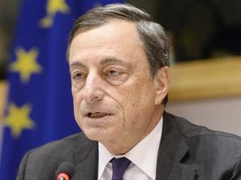 Draghi, durant una reunió al Parlament Europeu Foto:ARXIU