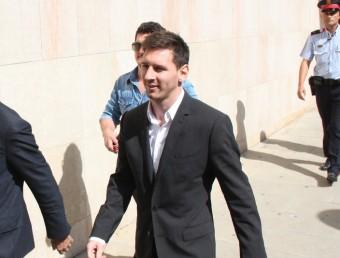 Messi el dia que va anar a declarar al jutjat de Gavà. Foto:ACN