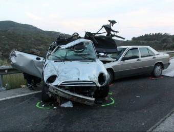 L'accident es va produir ahir a la tarda, a l'altura del quilòmetre 23 de la carretera N-260. Foto:NEREA GUISASOLA (ACN)