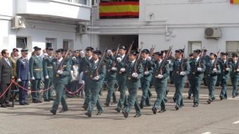 La desfilada de guàrdies durant els actes d'ahir  Foto:TURA SOLER