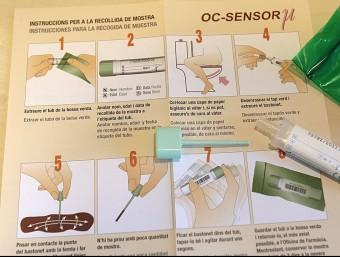 Kit per la detecció precoç de càncer de cólon i recte Foto:JOSEP LOSADA/ARXIU