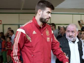 Piqué, amb la selecció espanyola Foto:EFE