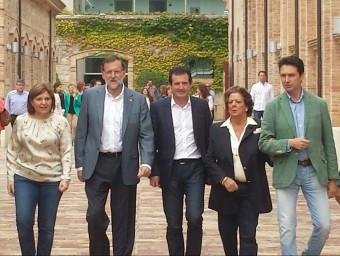 Rajoy amb la presidenta del PP valencià, Isabel Bonig. Foto:AGÈNCIES