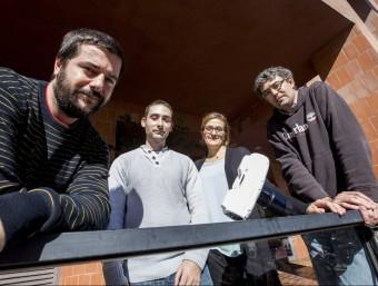 D'esquerra a dreta, Arnau Farré, Ferran Marsà, Elisabet Romeu i Mario Montes.  Foto:ALBERT SALAMÉ