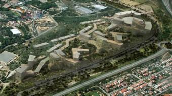 Imatge virtual del futur complex d'oci i joc previst als terrenys del CRT, segons el pla director aprovat al juliol Foto:ARXIU