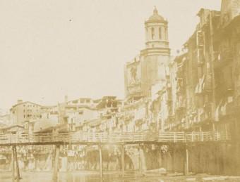 La primera fotografia conservada de Girona, datada el 1852 Foto:CRDI