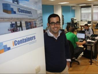 Ivan Tintoré, màxim responsable de la firma iContainers a les oficines de Barcelona.  Foto:FRANCESC MUÑOZ