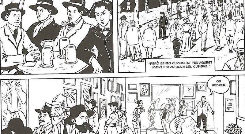 Imatges de vinyetes del còmic 'Les extraordinàries aventures de Francesc Pujols'.
