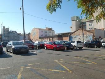 L'aparcament de zona blava del Vapor Turull, al centre de Sabadell Foto:S. P