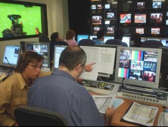 Imatge d'arxiu dels estudis de televisió del canal 3/24. El Tecnocampus acull avui un debat sobre el mitjà Foto:ARXIU