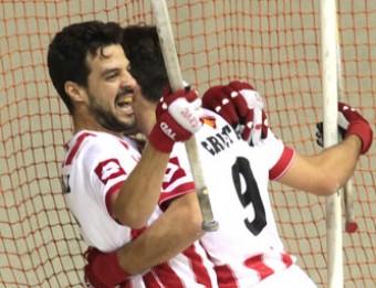 El Vic celebra un gol Foto:J.F