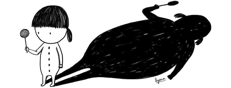 Imatge d'una de les il·lustracions que s'inclou en el llibre sobre la diabetis i obesitat infantil.