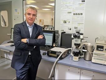 Ignasi Biosca, conseller delegat de Reig Jofr, en un dels laboratoris d'injectables.  Foto:JUANMA RAMOS