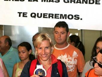 Marta Domínguez , l'any 2006. Foto:EFE