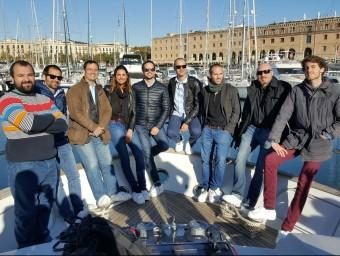 Els emprenedors participants en el fòrum d'inversió celebrat en un iot a Barcelona.  Foto:L'ECONÒMIC