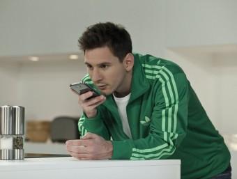 Messi promociona WeChat.  Foto:ARXIU