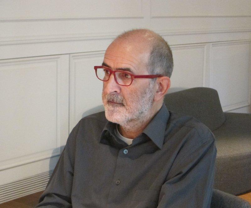 Imatge d'Antoni Garcia Porta (Barcelona,1954) durant la presentació de la seva novel·la aquesta setmana a Barcelona.