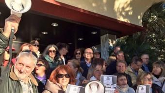 Imatge de la protesta dels treballadors de l'hotel Selvamar, ahir a Lloret de Mar Foto:J.F