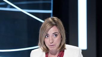 L'exministra i candidata del PSC-PSOE a les eleccions per Barcelona, durant l'entrevista a El Punt Avui TV Foto:J.L