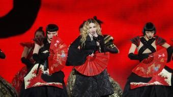 Dos moments de la actuació d'ahir al Sant Jordi oriol duran Foto:Oriol Duran