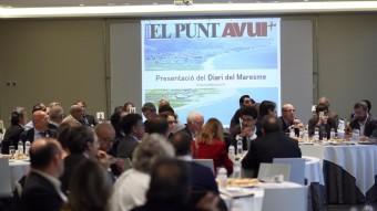 Imatge general de la sala on es va presentar la nova edició del Maresme d'El Punt Avui Foto:QUIM PUIG