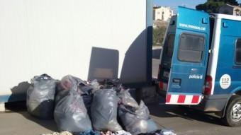 La roba que la policia va poder comissar als lladres. Foto:CME