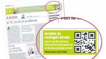 El Passi diari es publica a les pàgines d'Opinió d'El Punt Avui