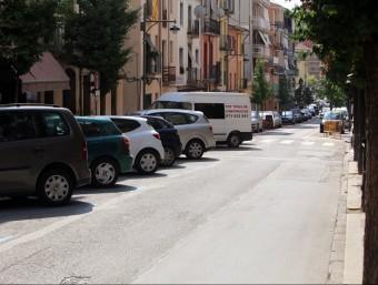 Una imatge del carrer Camprodon d'Arbúcies, al juliol. L'ajuntament acabarà les obres a l'abril Foto:MANEL LLADÓ