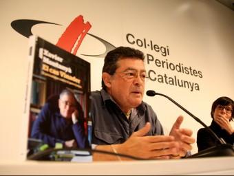 Xavier Montanyà en la presentació del llibre ahir al matí a la seu del Col·legi de Periodistes. Foto:ACN/ VIOLETA GOMÀ