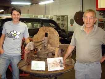 LLuís Bassaganya , esquerra, i Alexandre Cuadrado, al museu, el 2008. Foto:ACN