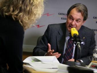 El president de la Generalitat en funcions, Artur Mas, durant l'entrevista Foto:ACN
