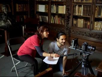 Neus Ballús en un moment del rodatge de 'Amb títol' Foto:ACN