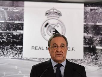 Florentino Pérez, en la roda de premsa que va fer dilluns a Madrid Foto:EFE