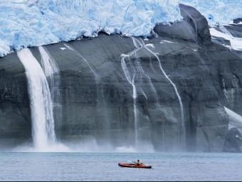 El desgel causat per l'efecte hivernacle, a Groenlàndia  Foto:ARXIU