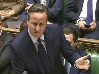 Cameron, durant el seu discurs a la Cambra dels Comuns Foto:EFE