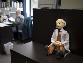 Figureta d'Albert Einstein a la Universitat hebrea de Jerusalem.  Foto:ARXIU/EFE