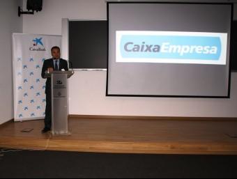 Jordi Nicolau, director territorial de CaixaBank a Barcelona, a la presentació del centre del Maresme Foto:CAIXABANC